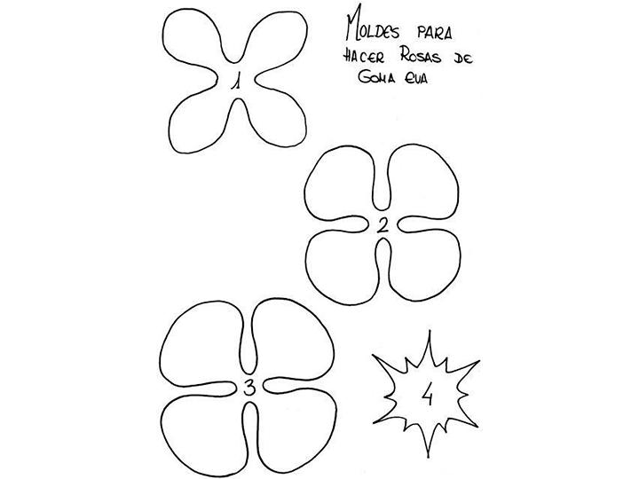 Plantillas De Flores Para Imprimir Y Pintargoma Eva
